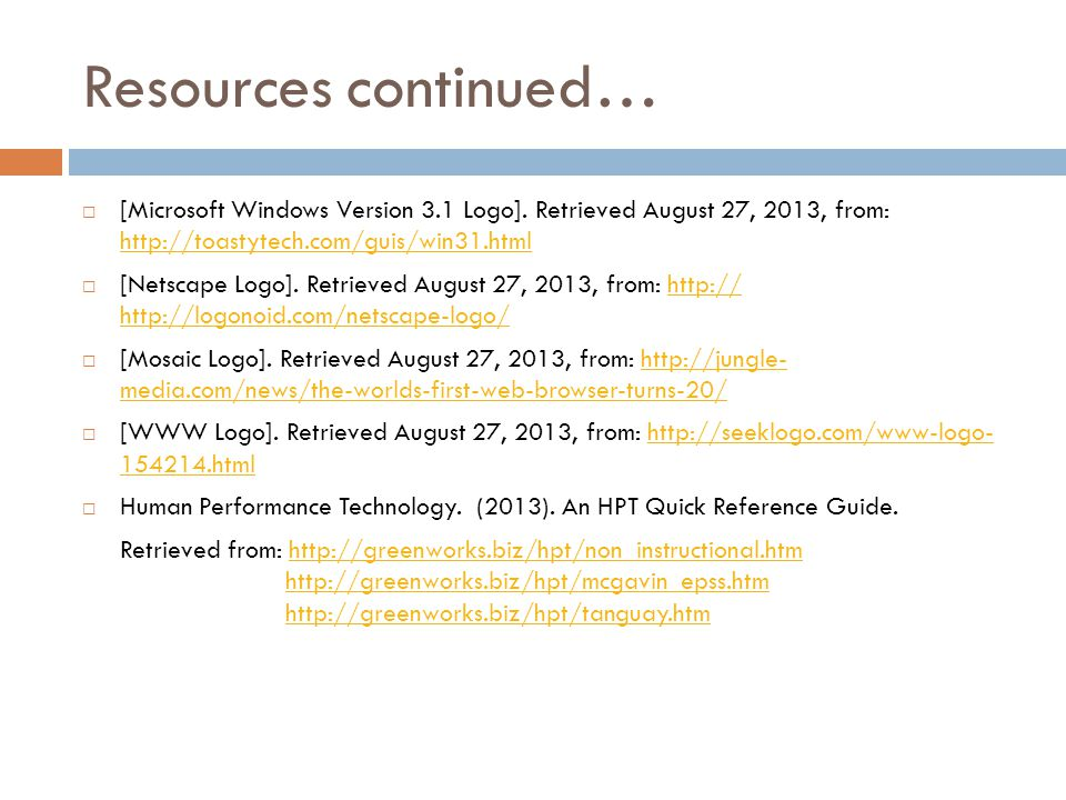 Resources continued…  [Microsoft Windows Version 3.1 Logo].