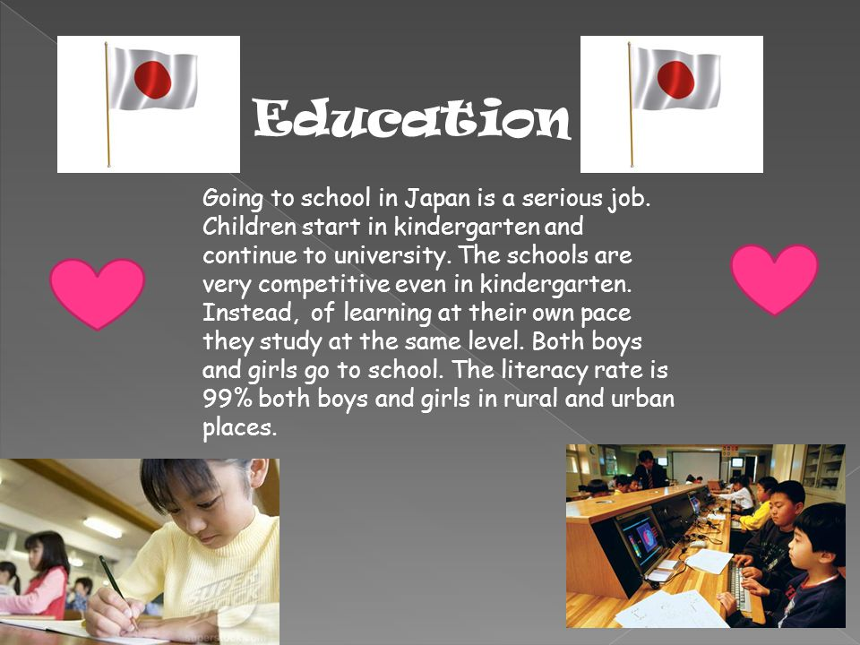 Education Going to school in Japan is a serious job.