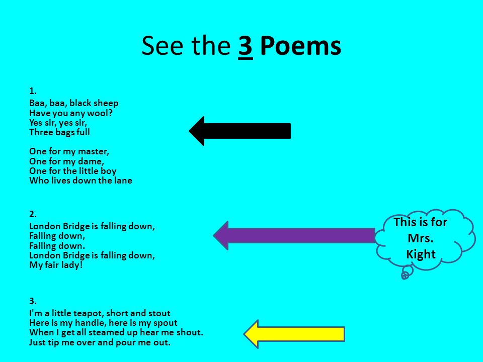 Select Tool/ Highlight and Copy Practice Highlighting- highlight 1 of the poems- You need to start at the beginning or the end of the poem.