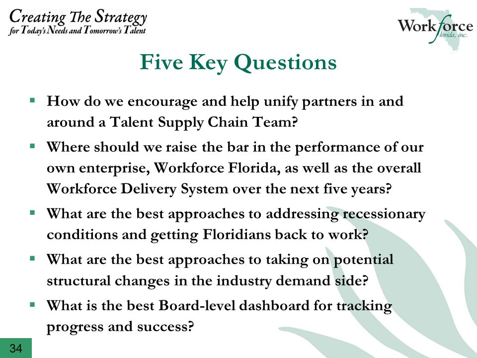  How do we encourage and help unify partners in and around a Talent Supply Chain Team.