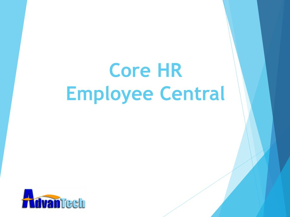 Core HR Employee Central
