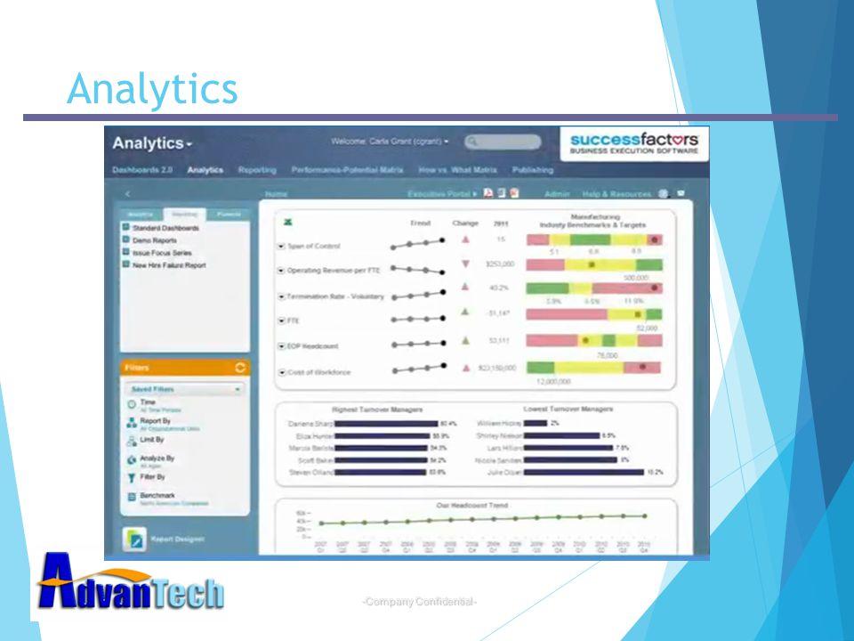 -Company Confidential- Analytics
