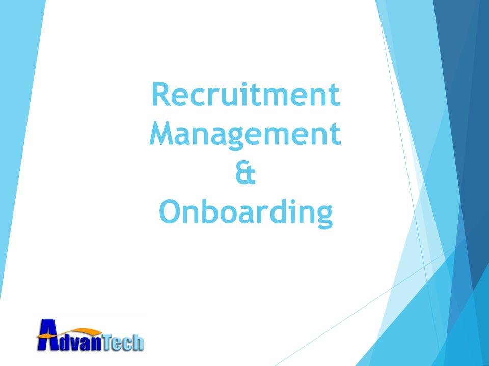 Recruitment Management & Onboarding