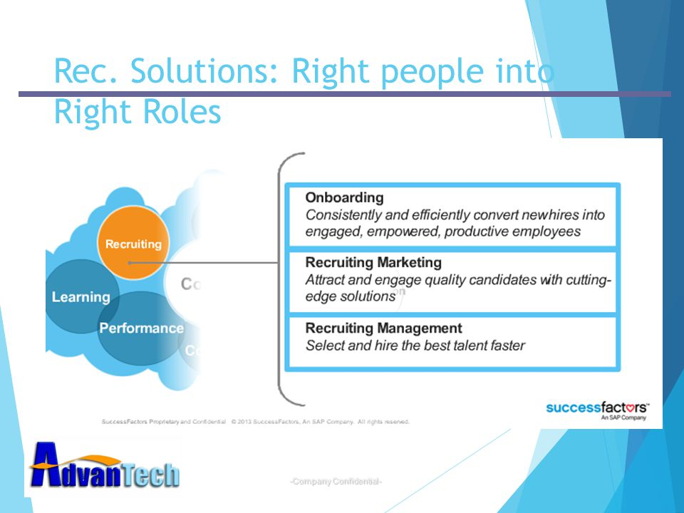 -Company Confidential- Rec. Solutions: Right people into Right Roles