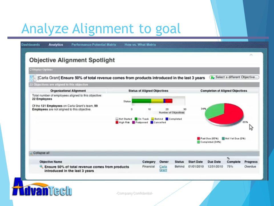 -Company Confidential- Analyze Alignment to goal