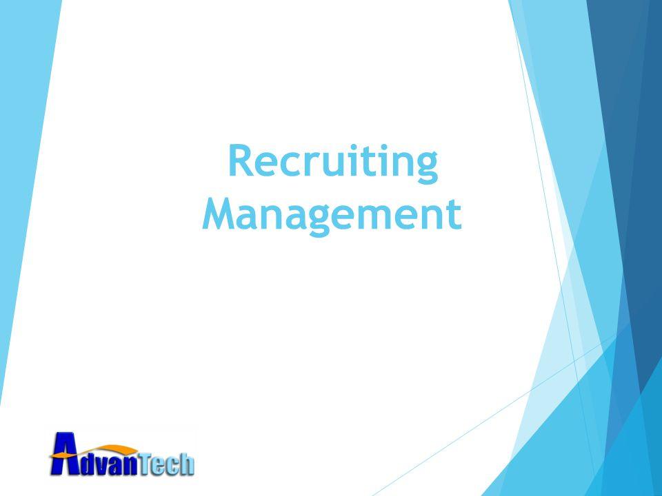 Recruiting Management