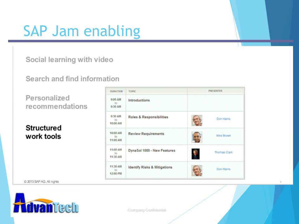 -Company Confidential- SAP Jam enabling