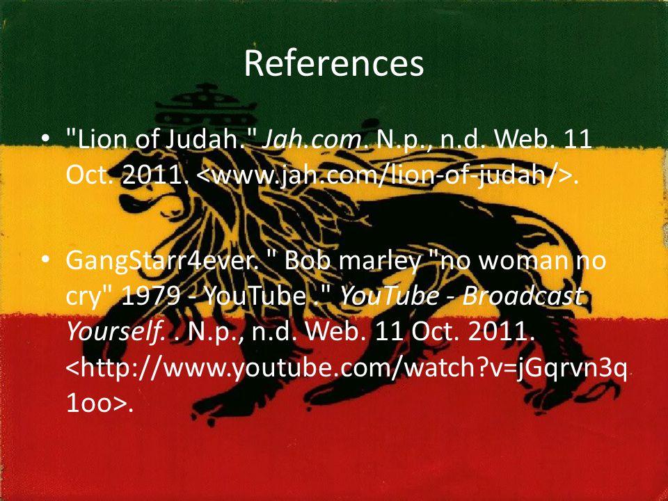 References Lion of Judah. Jah.com. N.p., n.d. Web.