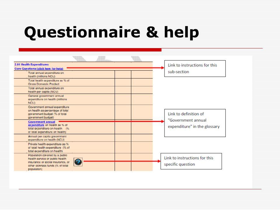Questionnaire & help