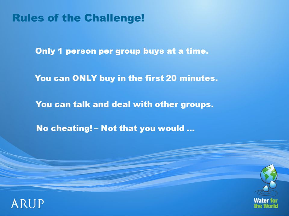 Rules of the Challenge. No cheating.
