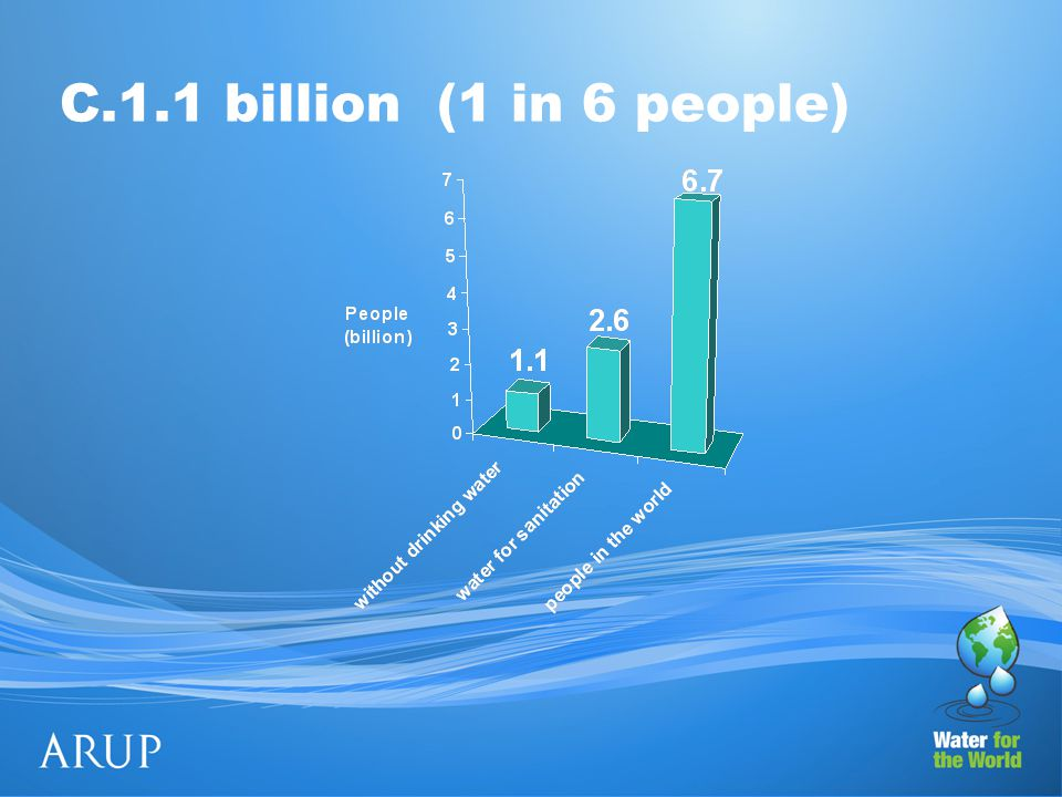 C.1.1 billion (1 in 6 people)