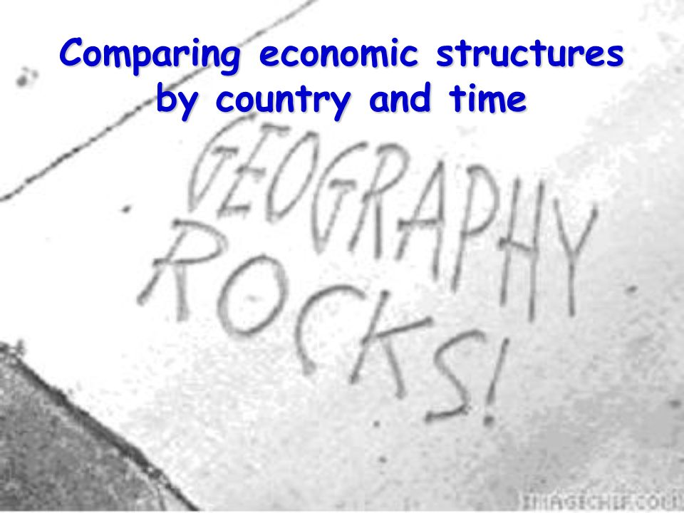 Comparing economic structures by country and time