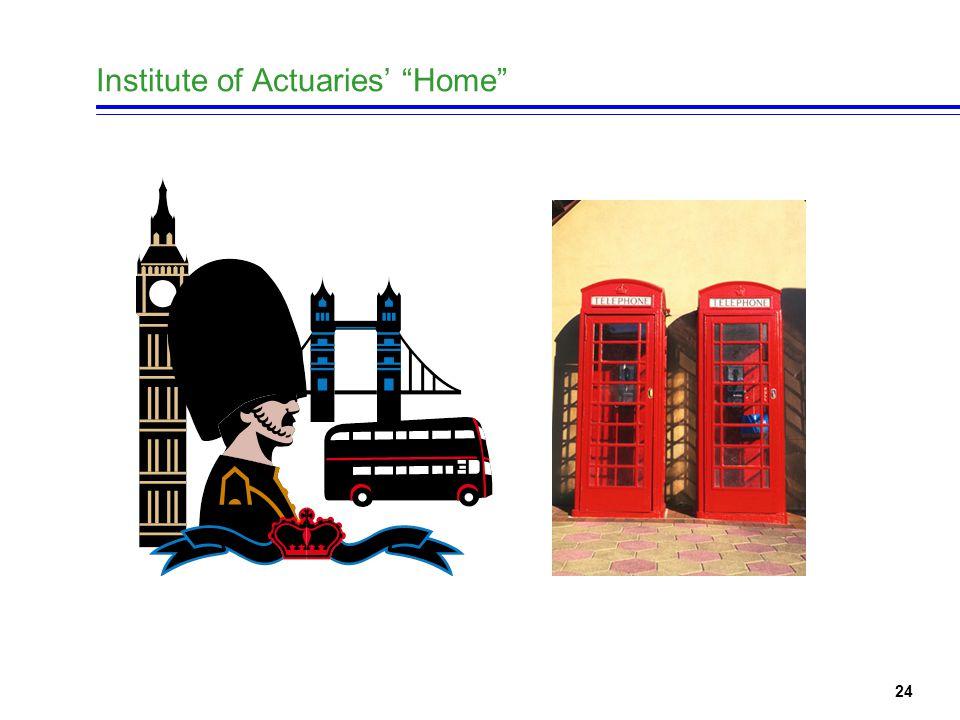 24 Institute of Actuaries' Home