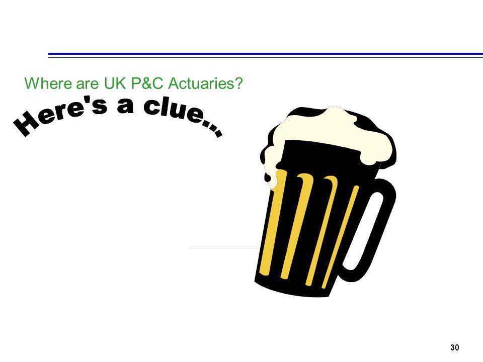 30 Where are UK P&C Actuaries