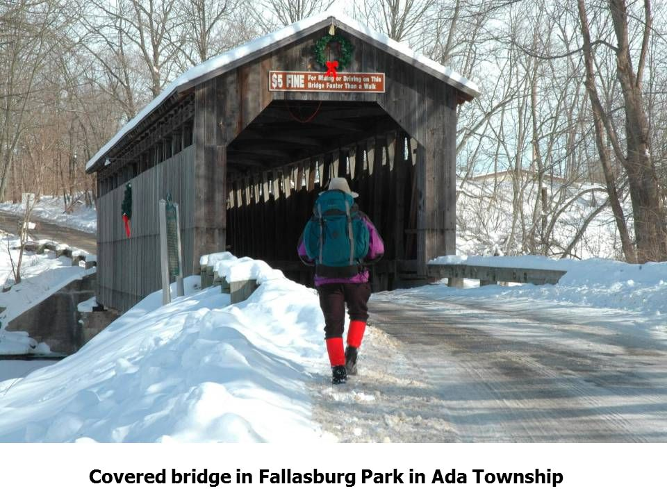 Covered bridge in Fallasburg Park in Ada Township