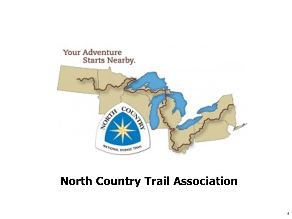 NCTA affiliates: In New York: Finger Lakes Trail Conference In Pennsylvania: Rachel Carlson Trails Conservancy Butler Outdoor Club In Ohio: Buckeye Trail Association NW Ohio Rails to Trails Association In Michigan: Friends of the Jordan River Hatchery In Minnesota: Superior Hiking Trail Association Border Trail Route Association Kekekabic Trail Club Parks and Trail Council of Minnesota