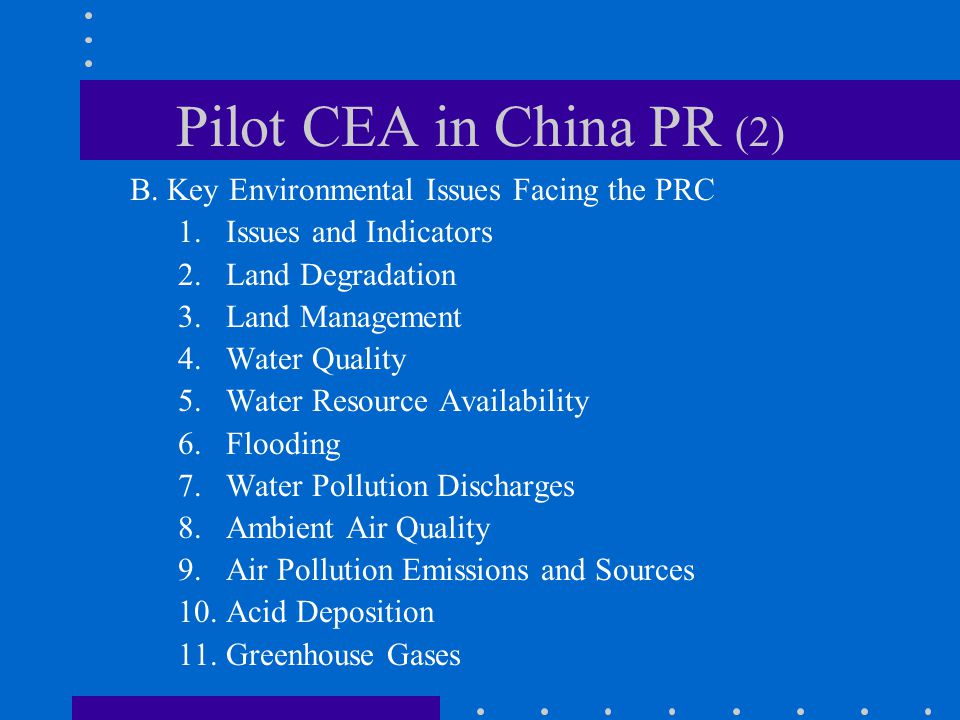 Pilot CEA in China PR (2) B.