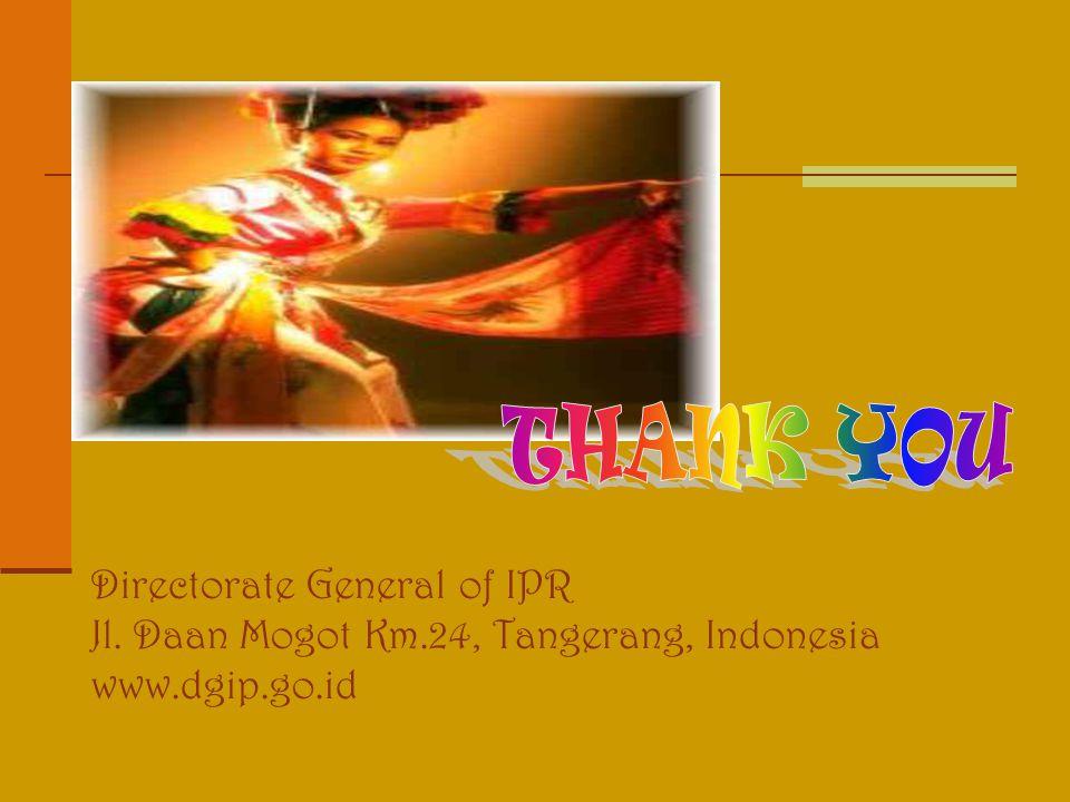 Directorate General of IPR Jl. Daan Mogot Km.24, Tangerang, Indonesia www.dgip.go.id
