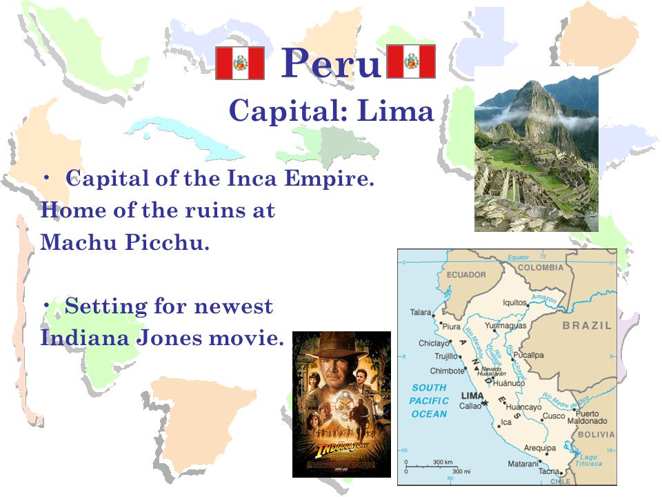 Bolivia Capital: La Paz* Named after S.American hero Simon Bolivar.