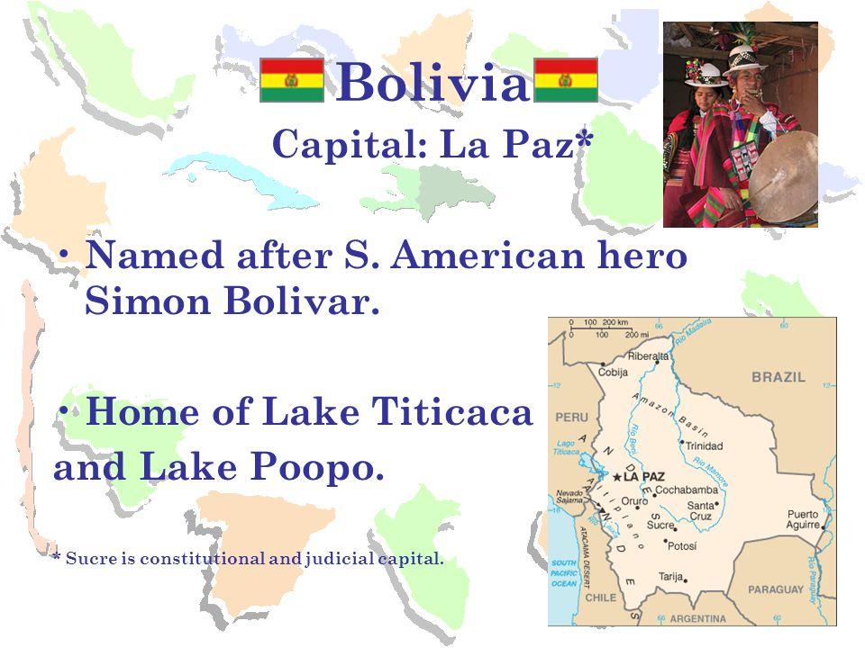 Chile Capital: Santiago Easter Island off coast. Country of Nobel Prize poet Pablo Neruda.