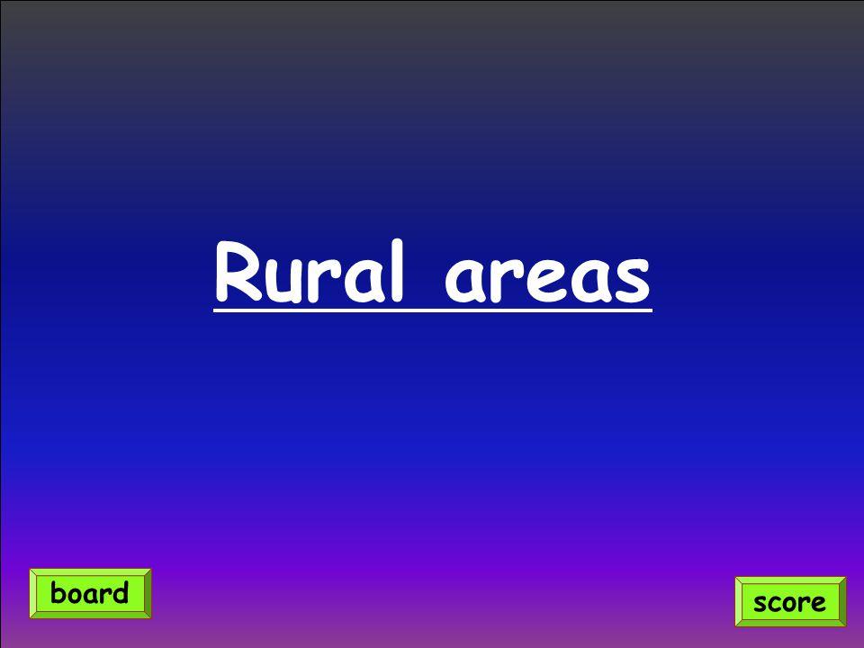 Rural areas score board