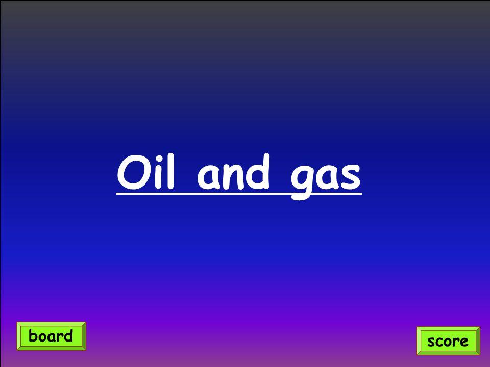 Oil and gas score board
