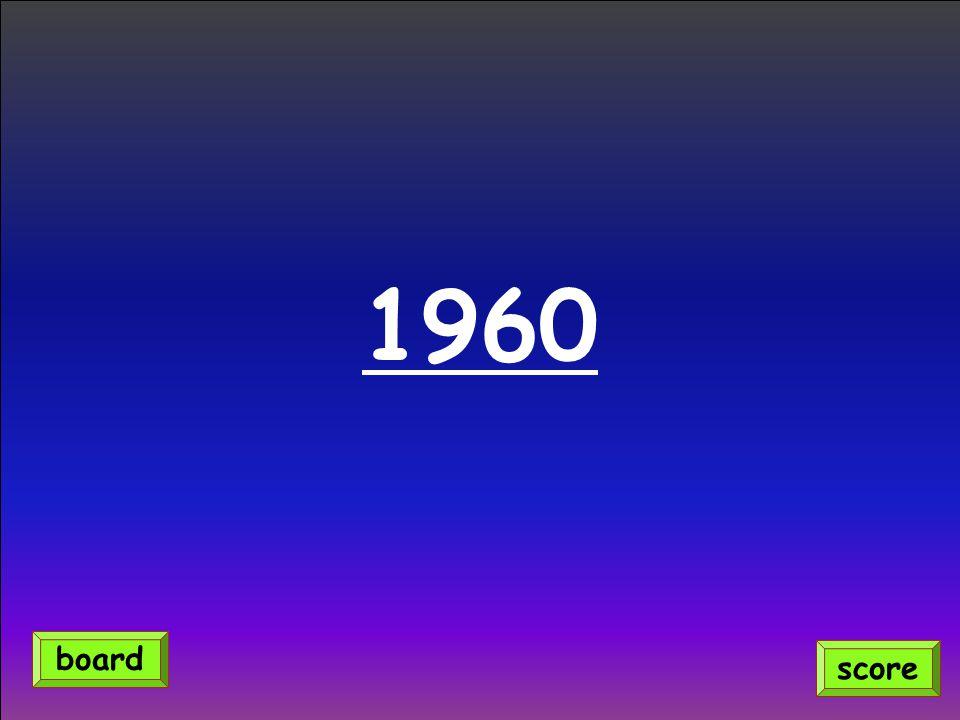 1960 score board
