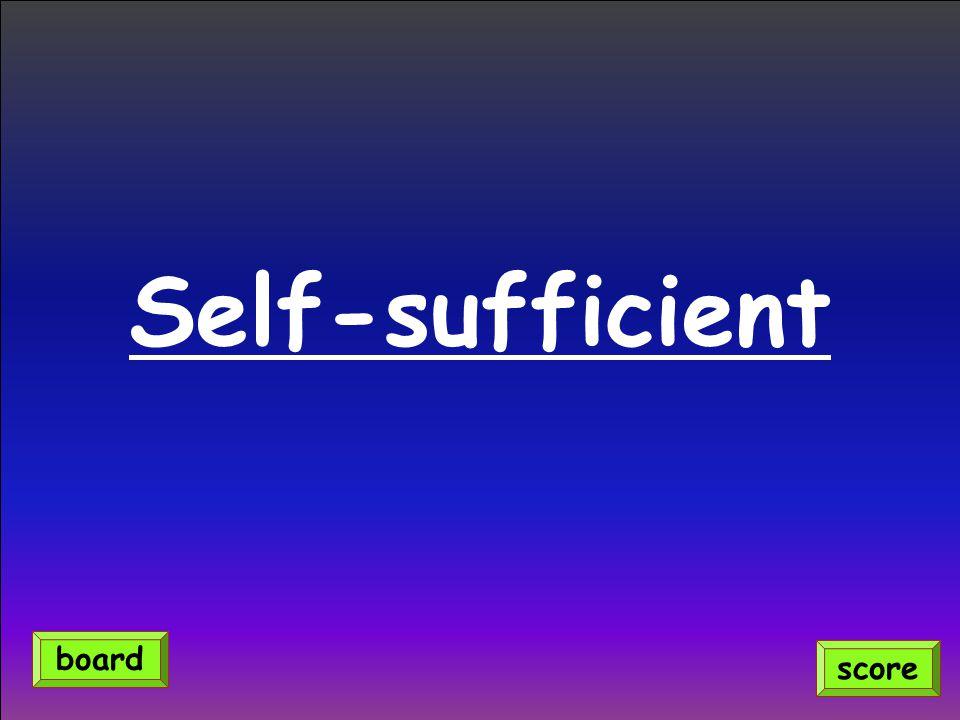 Self-sufficient score board