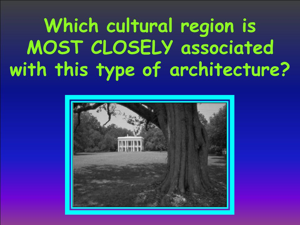 Which cultural region is MOST CLOSELY associated with this type of architecture