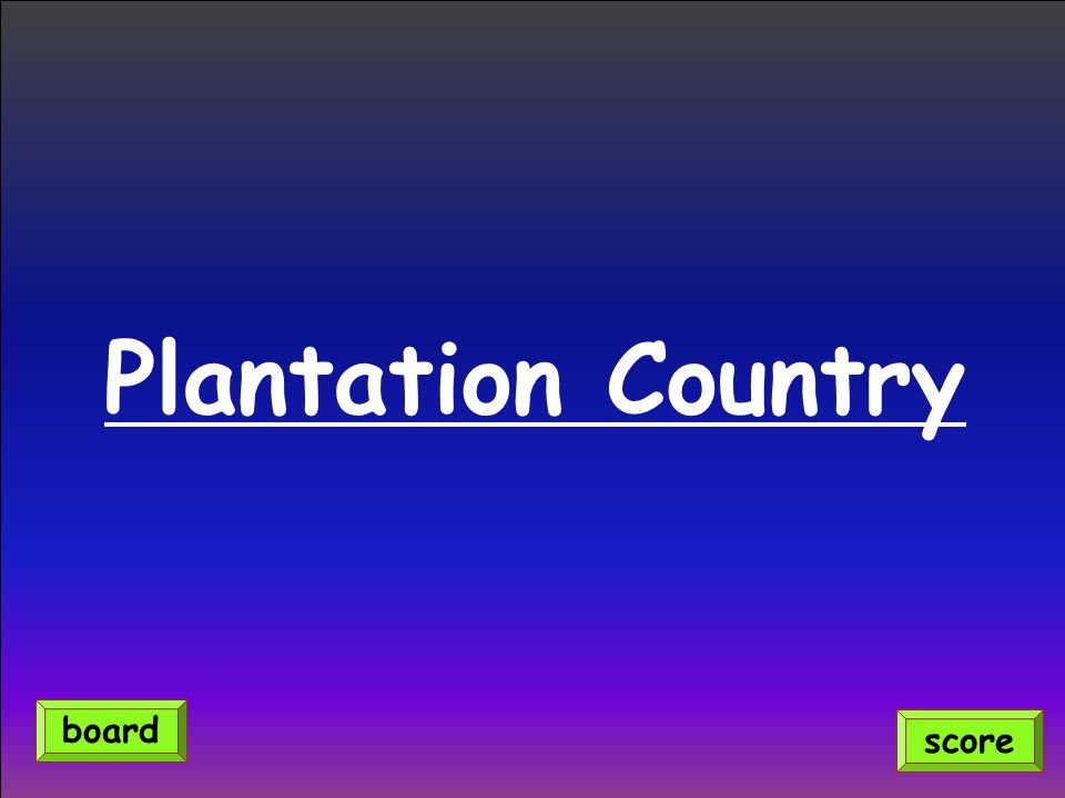 Plantation Country score board