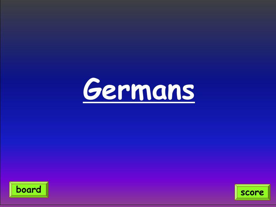 Germans score board