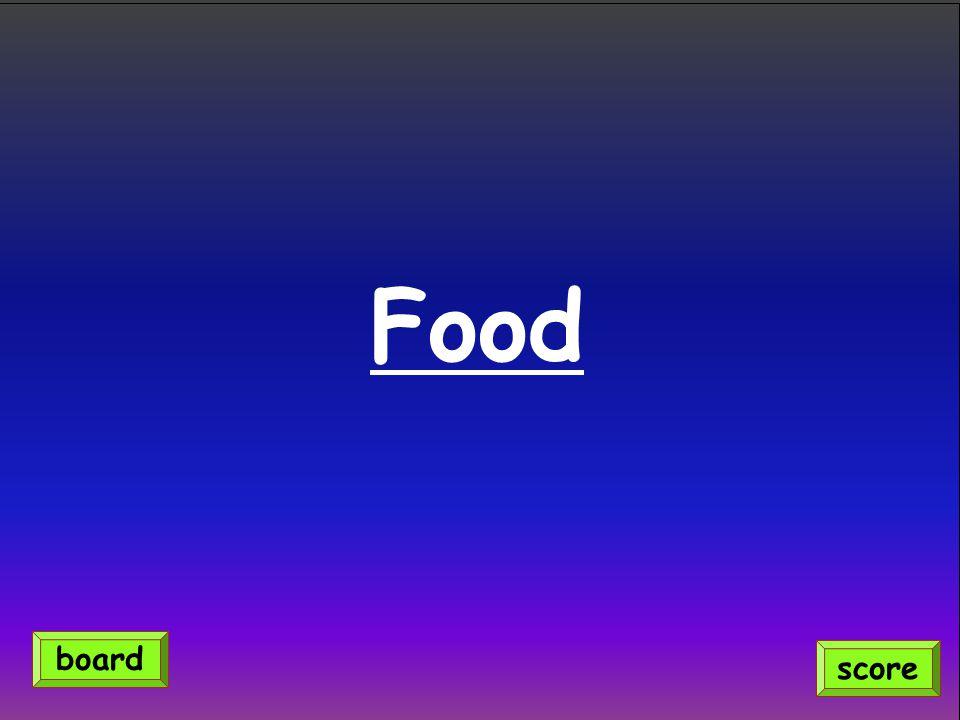 Food score board