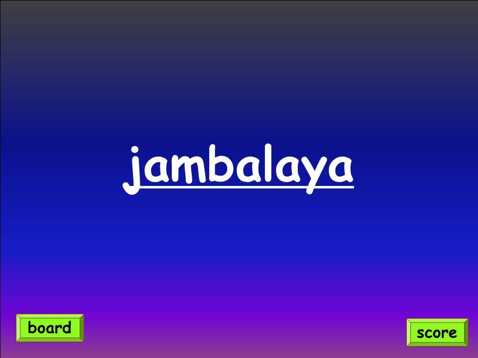 jambalaya score board