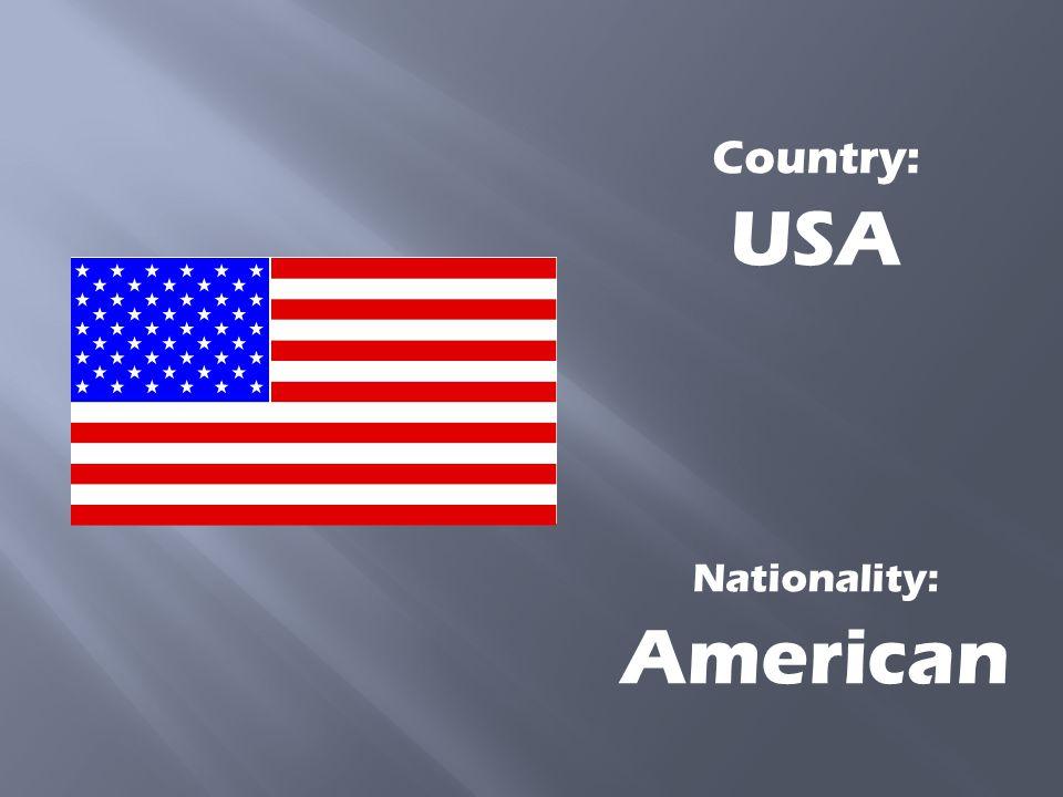 Nationality: Irish Country: Republic of Ireland