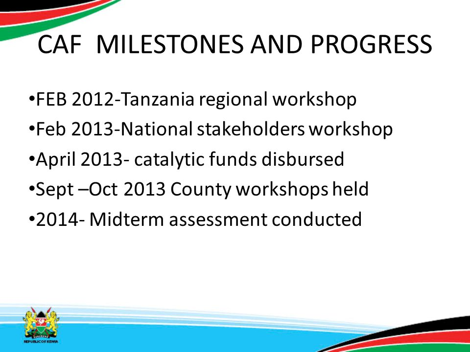 CAF RECOMMENDATIONS Support for development of advocacy tools for RMNCH.