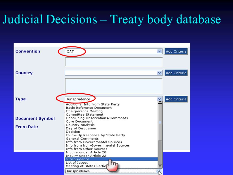 Judicial Decisions – Treaty body database