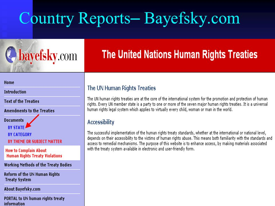 Country Reports – Bayefsky.com