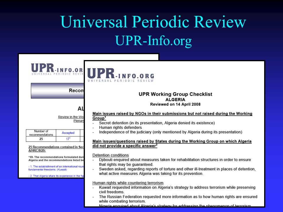 Universal Periodic Review UPR-Info.org