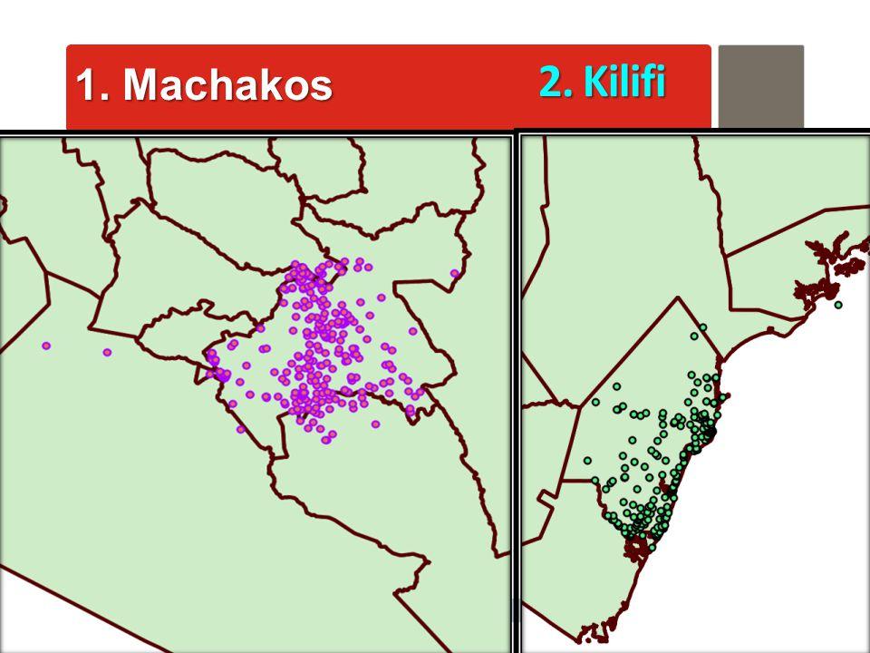 AfyaInfo  pg 35 1. Machakos 2. Kilifi