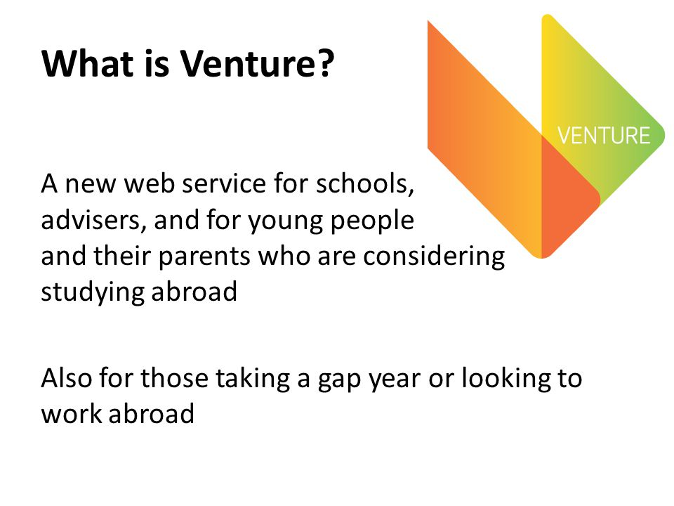 What is Venture.