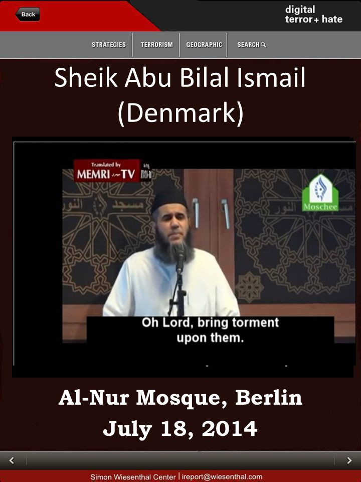 Sheik Abu Bilal Ismail (Denmark) Al-Nur Mosque, Berlin July 18, 2014