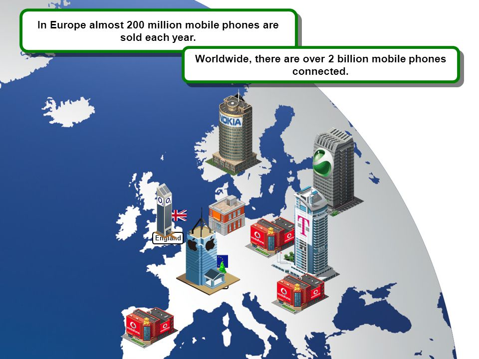 England Europe In Europe almost 200 million mobile phones are sold each year.