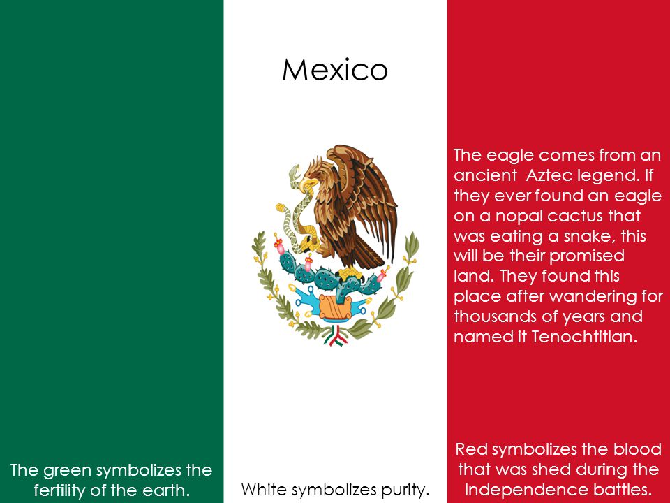 Mexico Red symbolizes the blood that was shed during the Independence battles.
