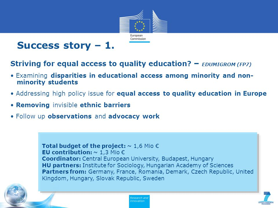 Success story – 1. Striving for equal access to quality education.