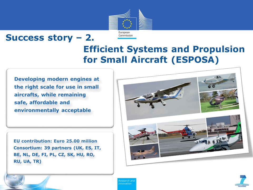 Efficient Systems and Propulsion for Small Aircraft (ESPOSA) Success story – 2.