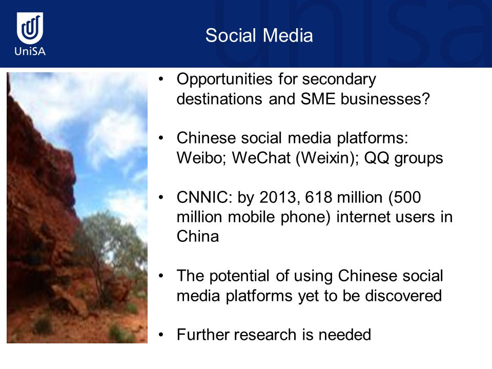 Social Media Opportunities for secondary destinations and SME businesses.
