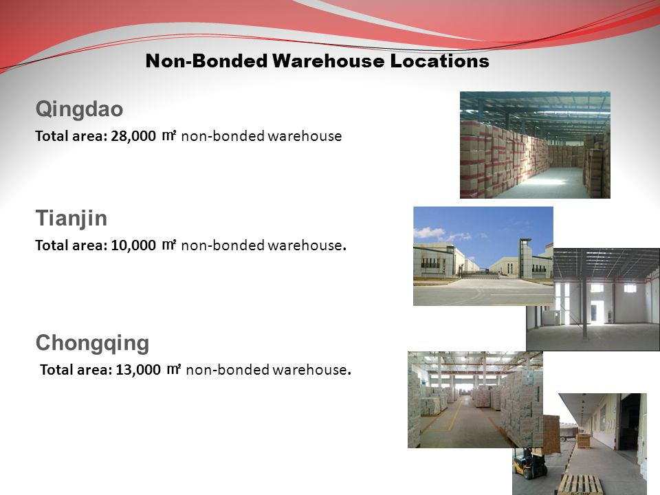 Tianjin Total area: 10,000 ㎡ non-bonded warehouse.