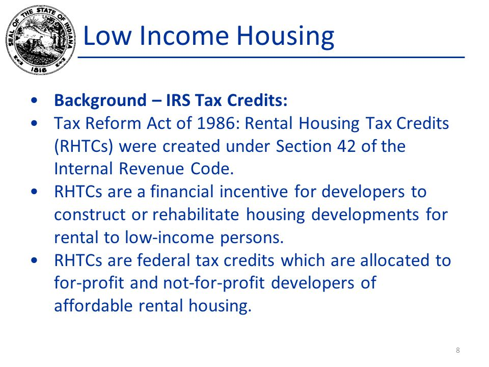 Low Income Housing According to Ms.