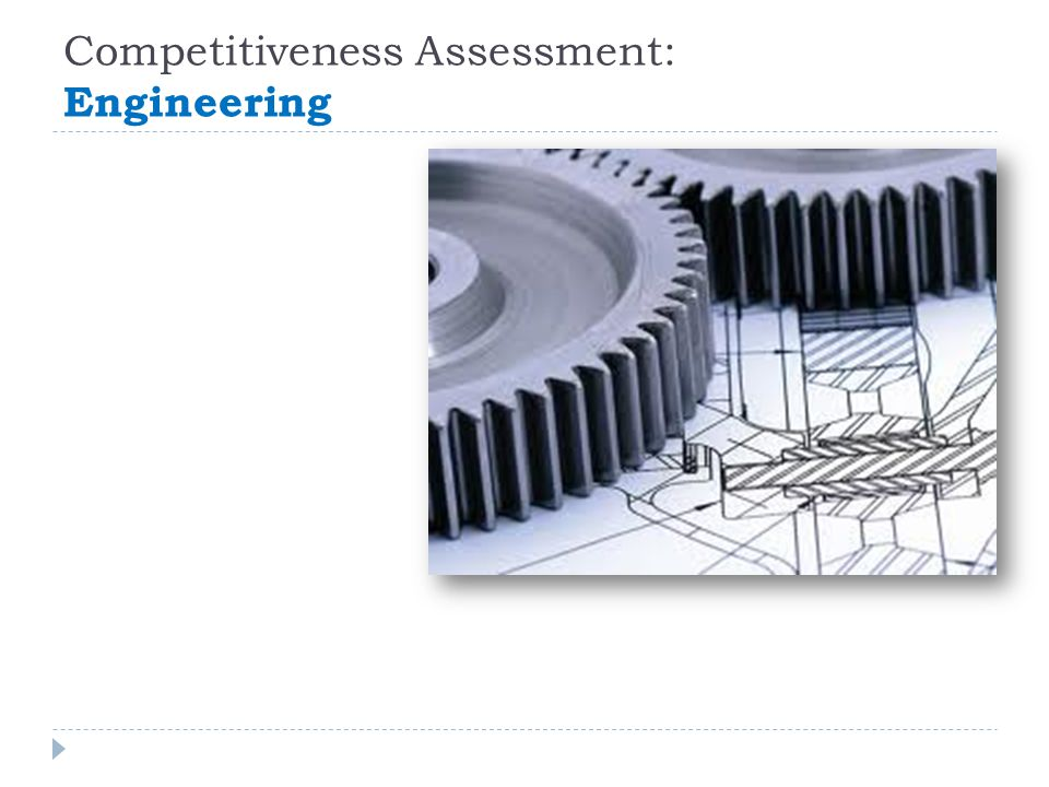 Competitiveness Assessment: Engineering