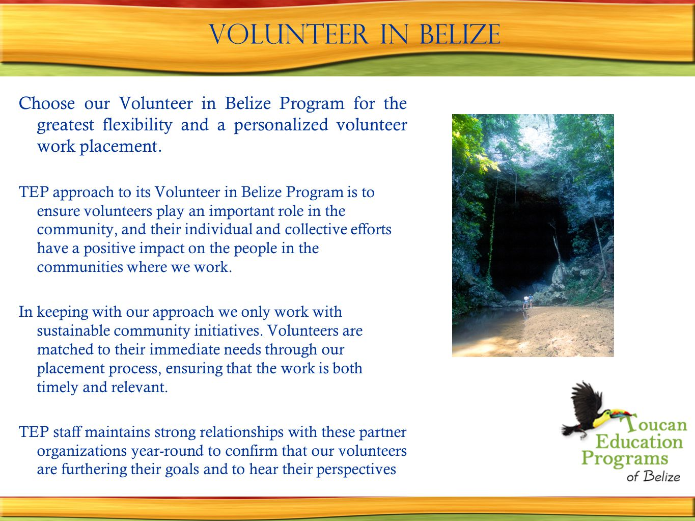 Volunteer in Belize.